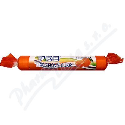 PEZ Hroznový cukr pomeranč s vitamínem C 39g