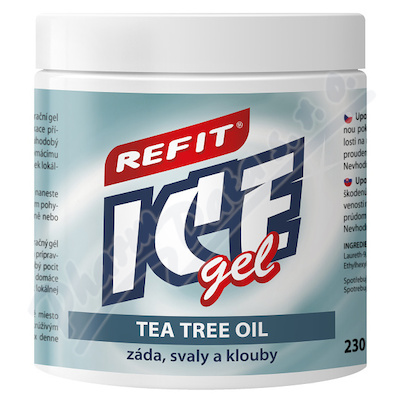 Masážní a osvěž.Refit Ice gel 220ml s tea tree oil