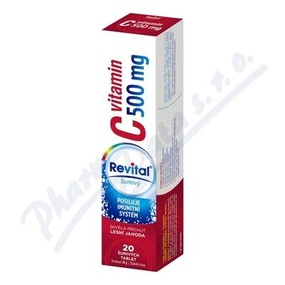 Revital C vitamin 500mg Lesní jahoda eff.tbl.20