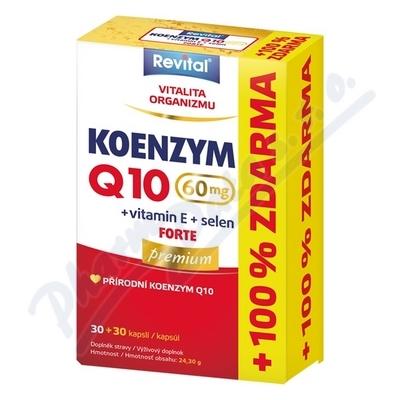 Revital Koenz.Q10 60mg +Se+vit.E cps.30+30 zdarma