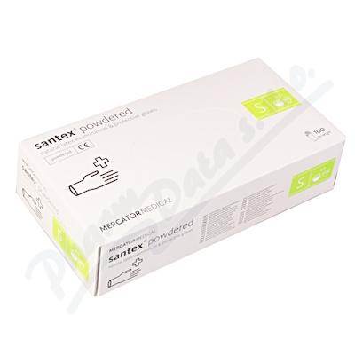 Rukavice latexové Santex powdered S 100ks