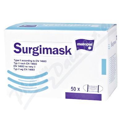 Surgimask obličejová maska s gumičkou 50ks