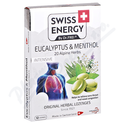 Swiss Energy Eukalypt+mentol+20 bylin past.12