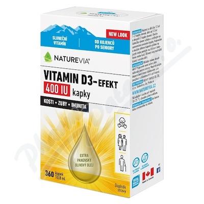 Swiss NatureVia Vitamin D3-Efekt 400 IU kap.10.8ml