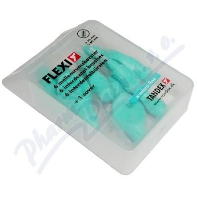 TANDEX Flexi mezizub.kart.0.38 tyrkysové 6ks