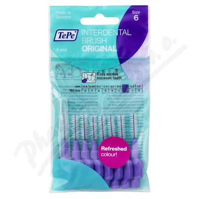 TePe mezizub.kartáčky fialové 1.1 sáček 8ks TP645