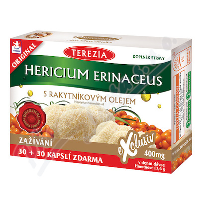 Hericium erinaceus s rakyt.olejem cps.30+30 ZDARMA