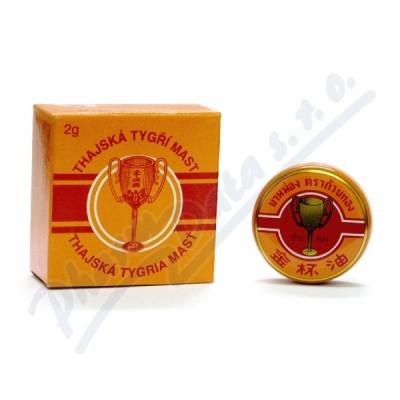 Thajská tygří mast Golden Cup balm 2g