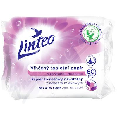 Toaletní papír LINTEO vlhčený 60ks kyselina mléčná