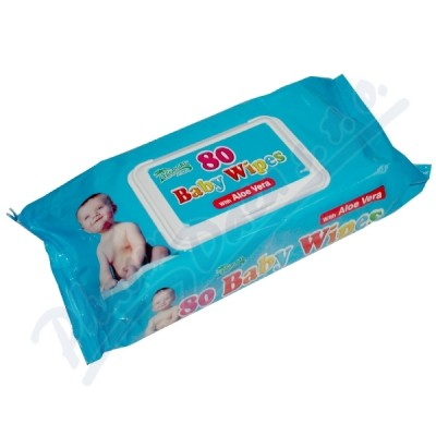 Ubrousky dětské hyg.Baby Wipes Aloe V.80ks s distr