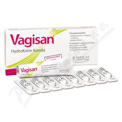 Vagisan HydroKrém Kombi 10g + 8 čípků