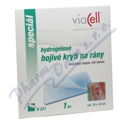 VIACELL R221 Hydrogel.hojivé krytí na rány 10x10cm