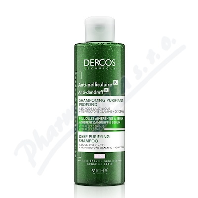 VICHY DERCOS Peelingový šampon proti lupům 250ml