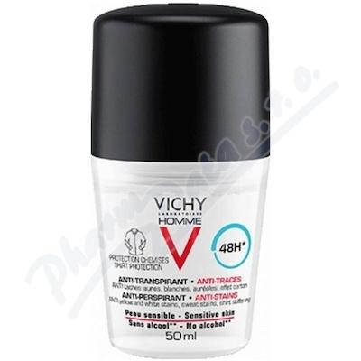VICHY HOMME Antiperspirant pr.skvrnám roll-on 50ml
