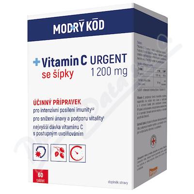 Vitamin C 1200 mg URGENT tbl. 60 MODRÝ KÓD