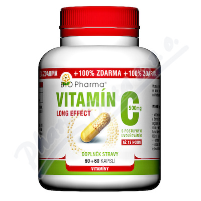 Vitamín C 500mg long effect cps.60+60 BIO-Pharma