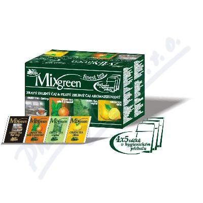 MIXGREEN Krabice 4 druhy zeleného čaje n.s.20x2g
