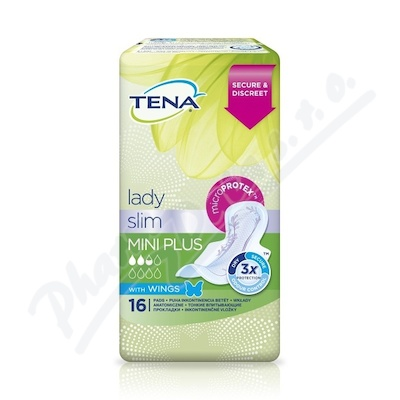 VLOŽKY ABSORPČNÍ TENA LADY SLIM MINI PLUS WINGS