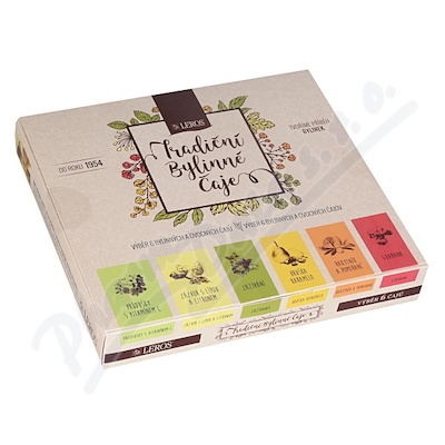 Výběr 6 bylinných a ovocných čajů n.s.6x5ks