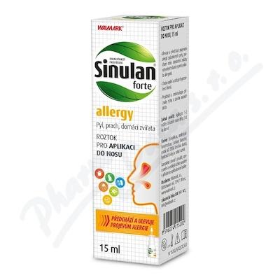 Walmark Sinulan Forte allergy nosní sprej 15ml