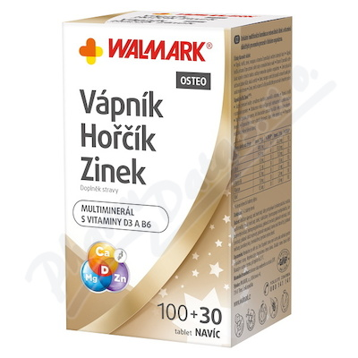 Walmark Váp-Hoř-Zinek Osteo tbl.100+30 Promo 2018