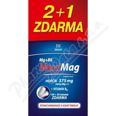 Zdrovit MaxiMag Hořčík 375mg+B6 2+1 zdarma tob3x50